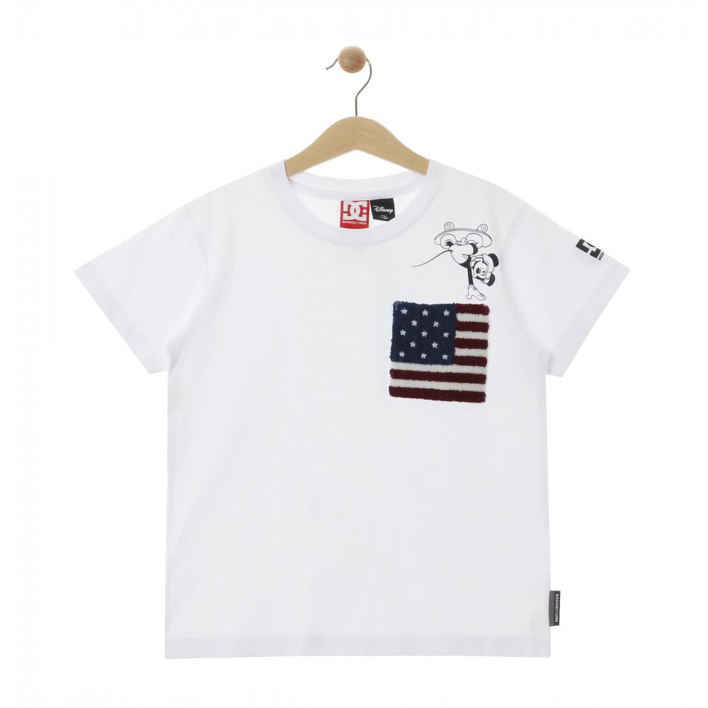 ディズニー ミッキー キッズ 100-160cm Tシャツ 半袖 レギュラーシルエット 20 KD DISNEY FLAG ON MICKEY SS