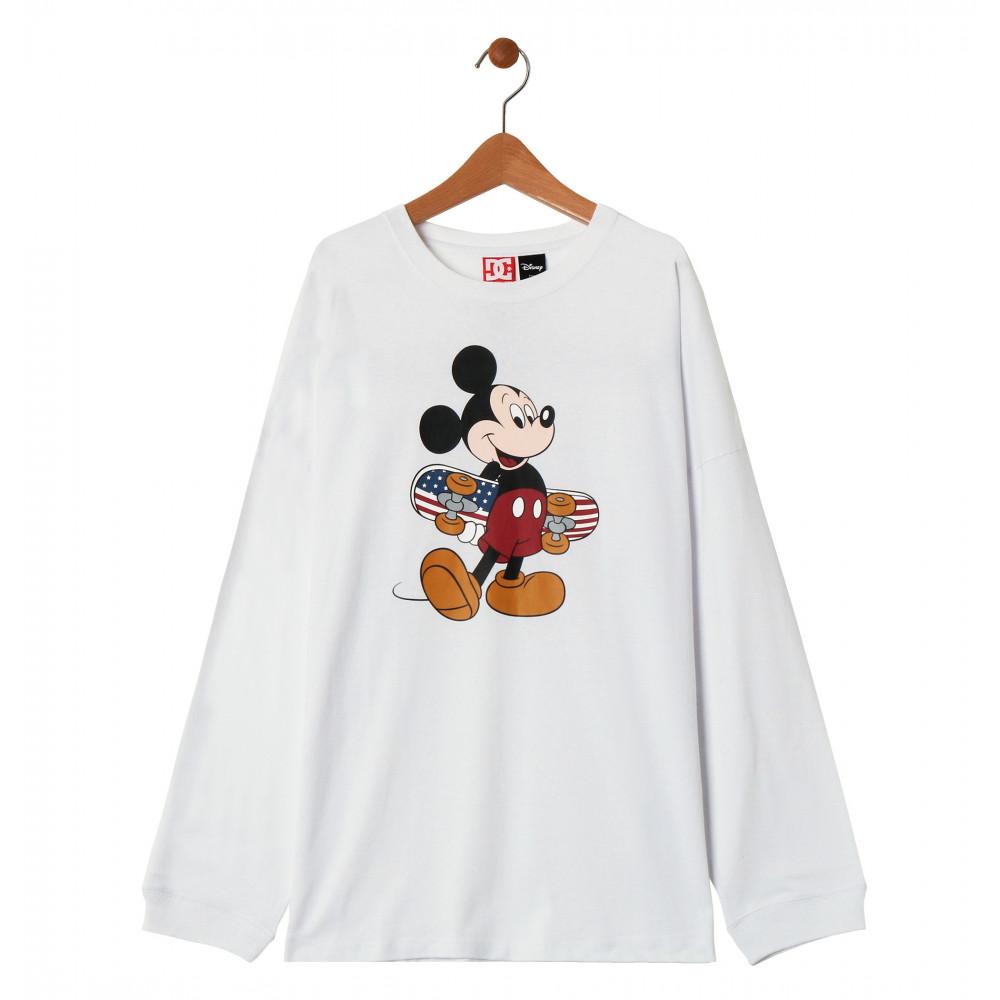 キッズ Tシャツ 長袖 ミッキー ディズニー クルーネック19 KD MICKEY PRINT LS