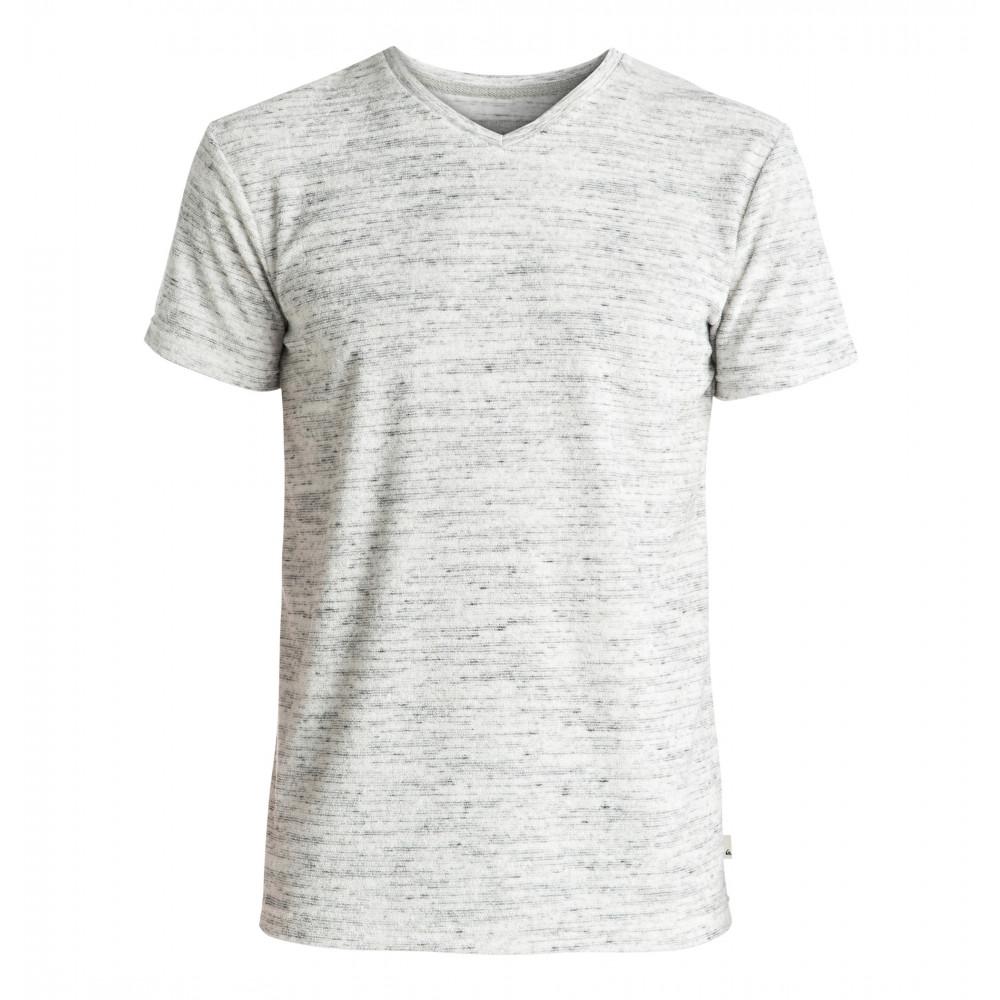 パイル地VネックTシャツ