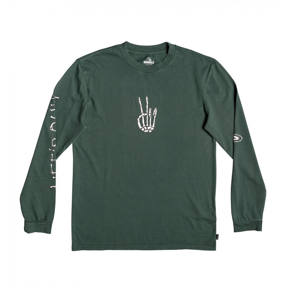 ORIGINALS OG LIFES QUIK LS Tシャツ 長袖 クルーネック フロントプリント