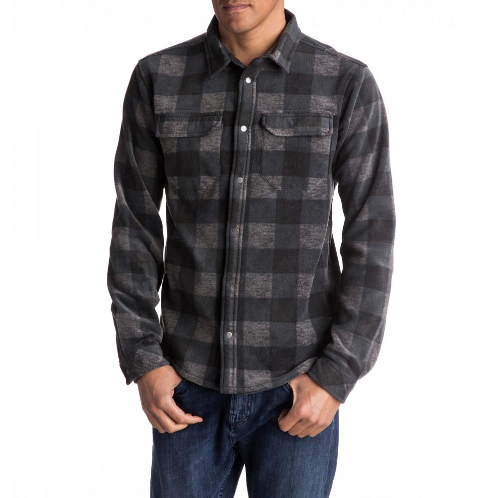 フリースチェックシャツ