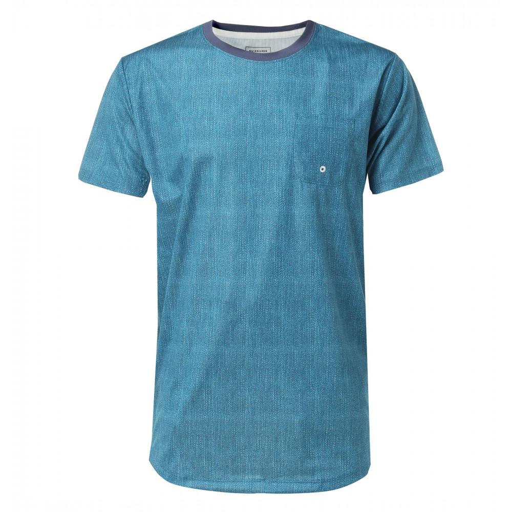 メンズ / UPF30 インディゴプリント サーフTシャツ