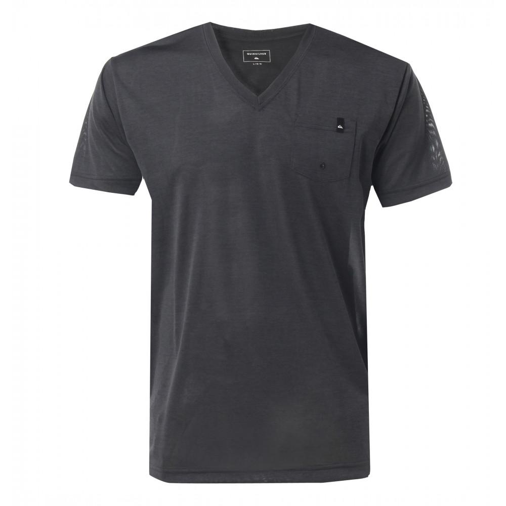 メンズ / UPF30 Vネック サーフTシャツ