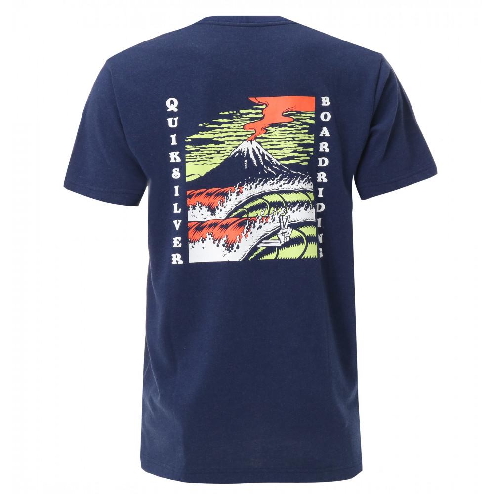 メンズ バックプリント オーガニックコットン Tシャツ