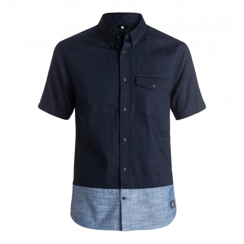 半袖カラーブロックシャツ