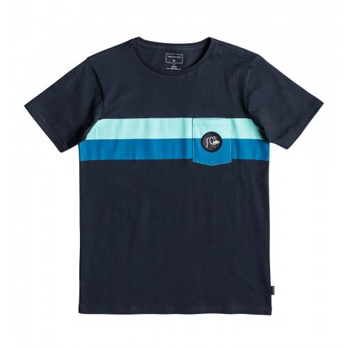 プリント Tシャツ SEASON STRIPE POCKET TEE YTH