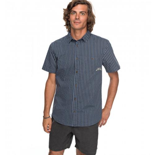 メンズ / ALOHAワッペン付き 半袖シャツ